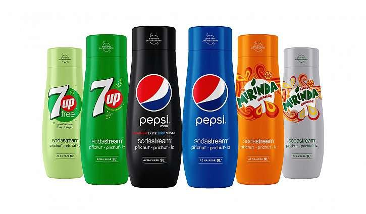 Druhou cenou je sada příchutí SodaStream x Pepsi