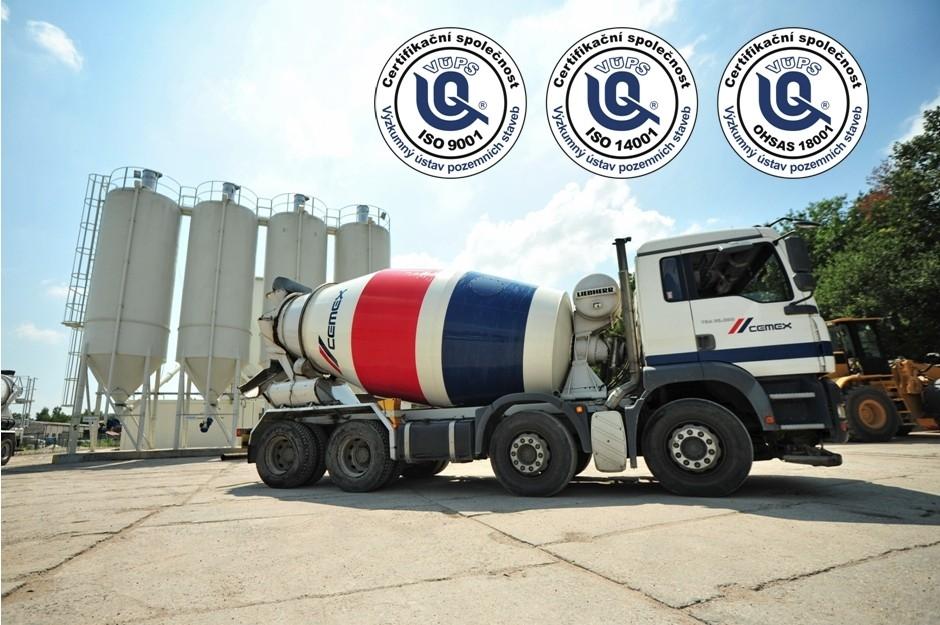 CEMEX získal certifikace ISO a OHSAS pro všechny své betonárny