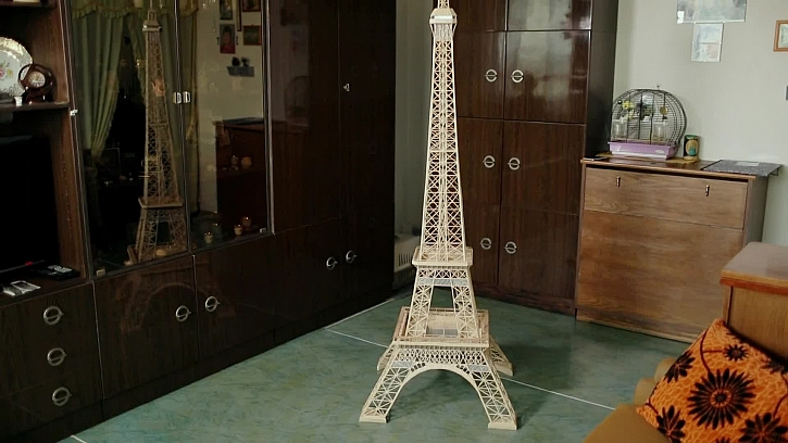 Eiffelova věž ze špejlí