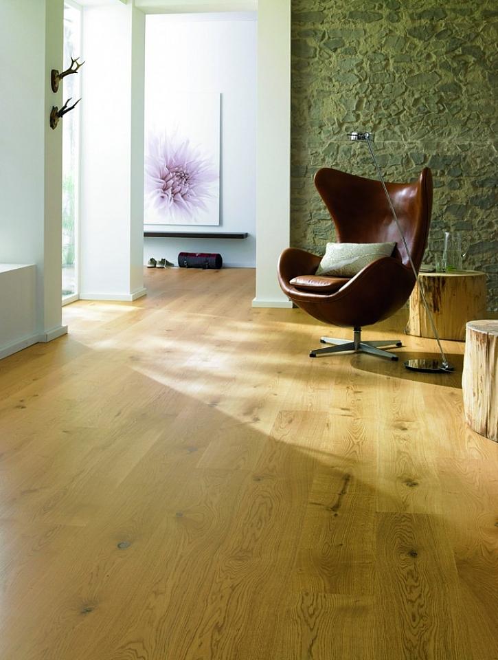 FEEL WOOD - masivní dřevěnná dubová podlaha Natural