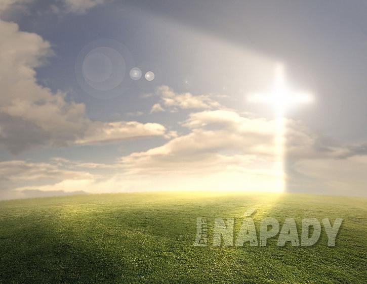 kříž na obloze