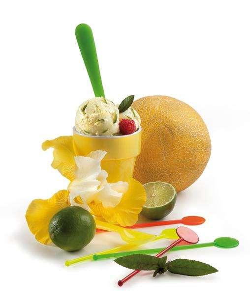 Žlutá zmrzlina