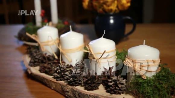 Výroba adventního věnce nebo svícnu na poslední chvíli
