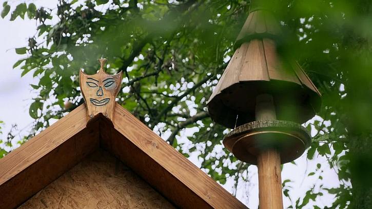 Domeček v korunách stromů