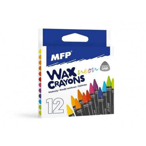 MFP voskovky fluo 12 barev - trojhranné