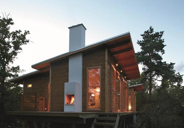 Postavte dům s komínem