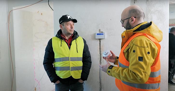 Elektronický zabezpečovací systém na stavbě