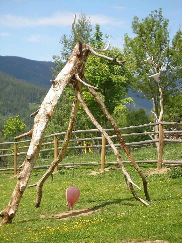 Dřevěné zahradní dekorace