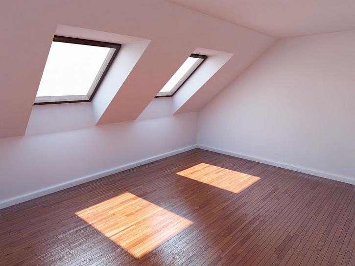 Střešní okna by měla svou plochou dosáhnout minimálně 10 % podlahové plochy místnosti