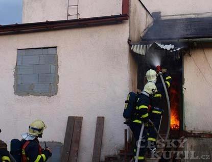 Simulovaný požár rodinného domu