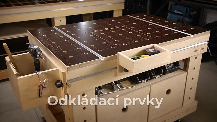 Odkládací prvky pracovního stulu Workbench