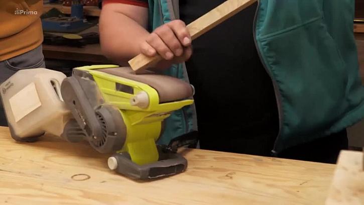 Broušení dřevěné latě