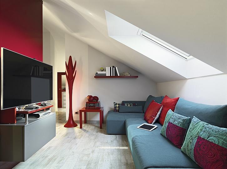 Obývací pokoj v podkroví