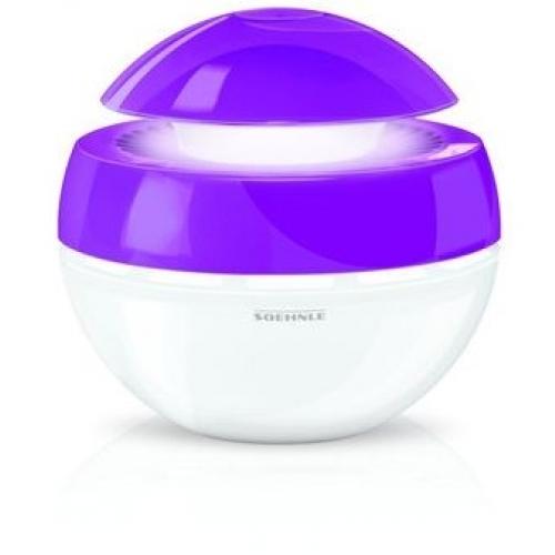 SOEHNLE Zvlhčovač vzduchu Air Fresh Plus fialový s LED + vonný olej Magnolie 68045+68043