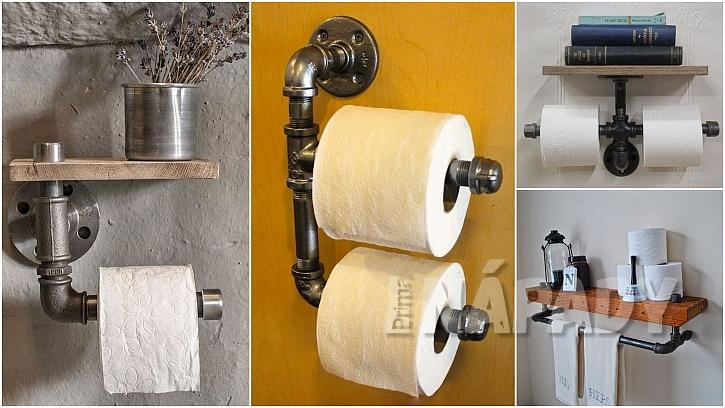 Toaletní papír: držáky zvodovodních trubek