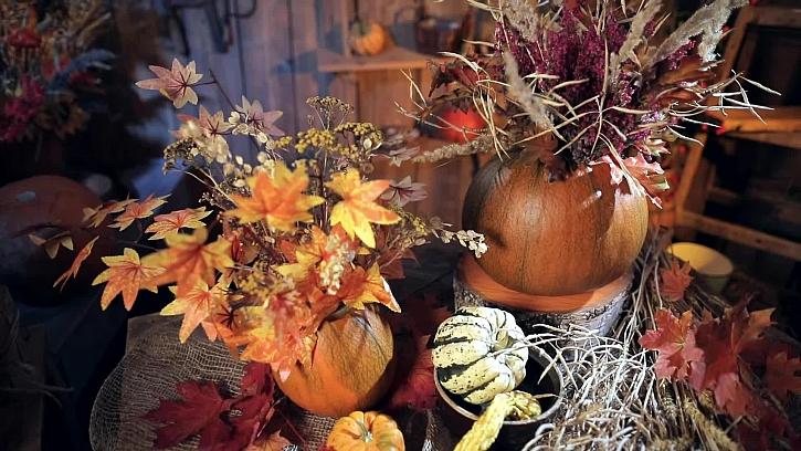 Podzimní váza z dýně