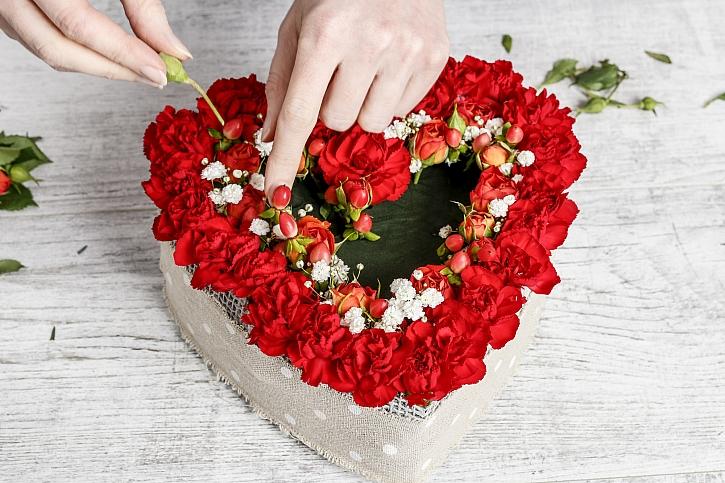 Vpichování květů