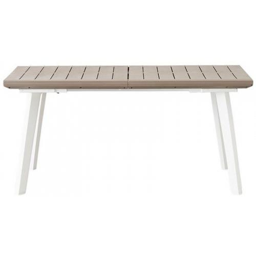 KETER HARMONY rozkládací stůl 162 x 100 x 74 cm, bílá/šedá 17202278
