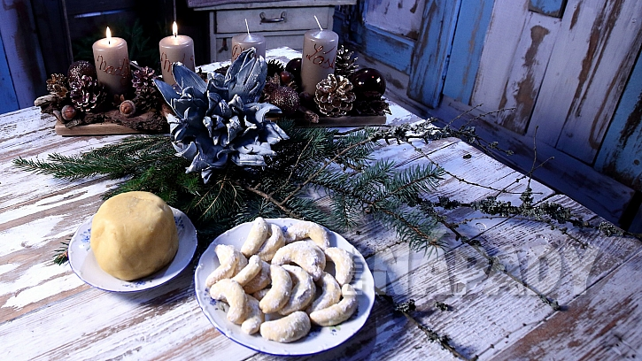 Pudinkové rohlíčky = nejrychlejší vánoční cukroví