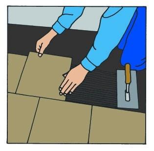 Pokládka tenkovrstvé tepelné rohože – postup