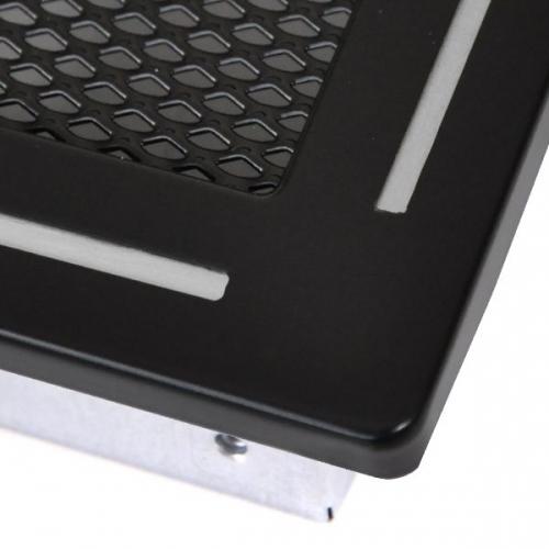 Krbová mřížka 16x45cm TREND černý mat