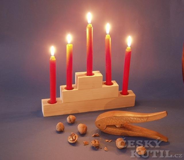Svícny z odřezků