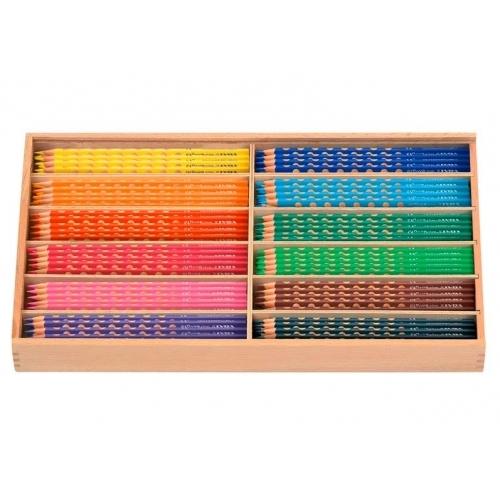MFP pastelky GROOVE SLIM 12barev/144ks box dřevo