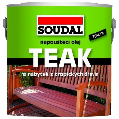 SOUDAL napouštěcí olej na dřevo 0,75 l teak