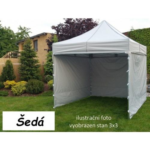 Tradgard PROFI STEEL 57121 Zahradní párty stan 3 x 6 - šedá