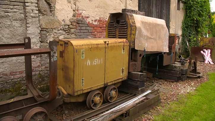Původní torzo důlního vlaku.