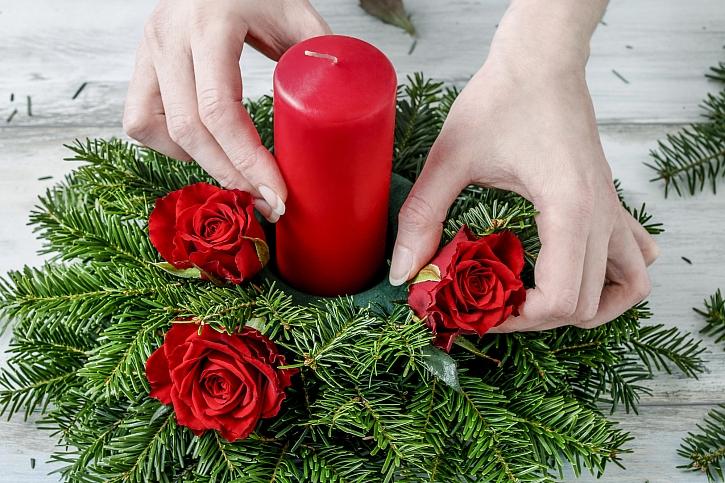 Zapíchání květů růží