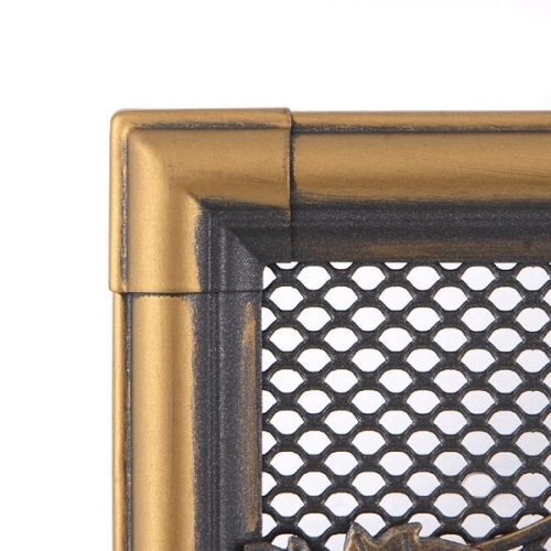 Krbová mřížka 16x32cm RETRO zlatá patina