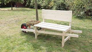 Návod na výrobu mobilní pivní lavičky