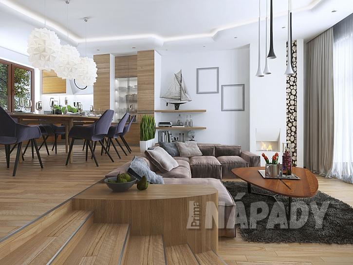 Stupínek v obývacím pokoji