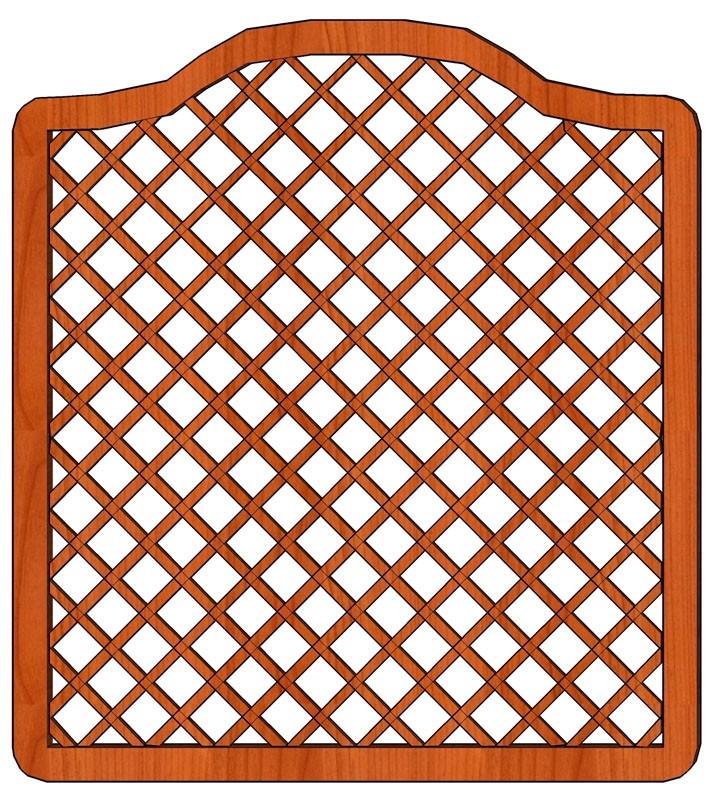 Pevné mříže s plátovaným spojem latí