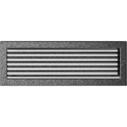 Krbová mřížka 17x49 BASIC staré stříbro s žaluzií