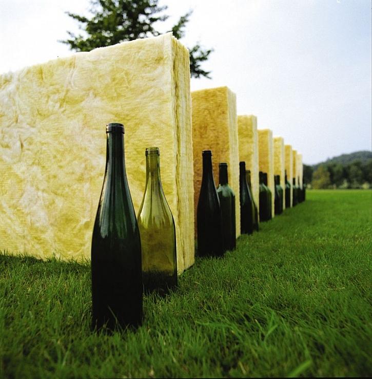 Recyklované sklo se využívá při výrobě tepelné izolace ze skelných vláken.