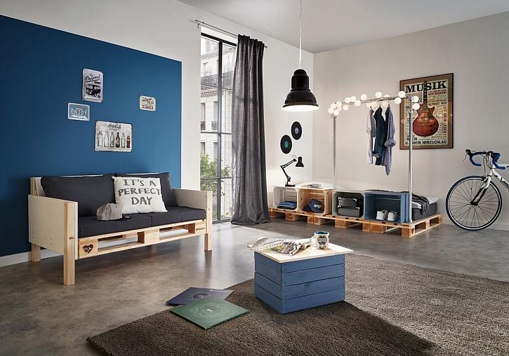 Originální dřevěný nábytek z beden a palet nejen do obýváku (Zdroj: HORNBACH)