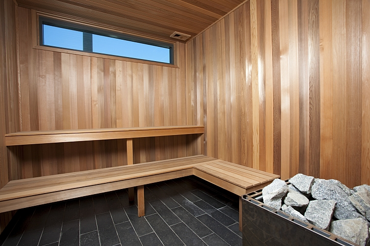 Vnitřek sauny