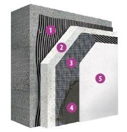 Izolantem je deska z pěnového polystyrenu