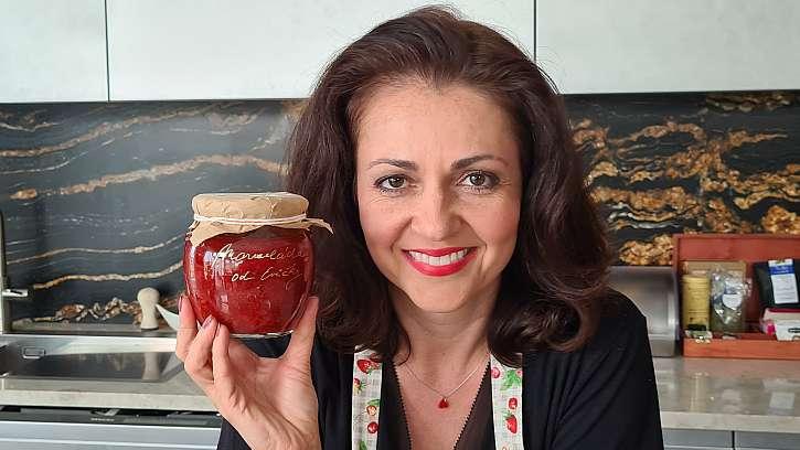 Jahodová marmeláda s mátou