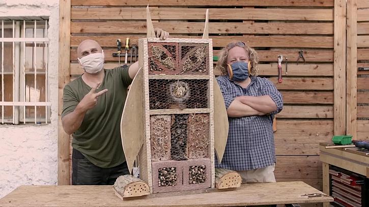 Postavte si hmyzí hotel v podobě sovy