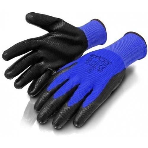 ERBAPracovní rukavice XL polyesterové potažené nitrilemER-55069