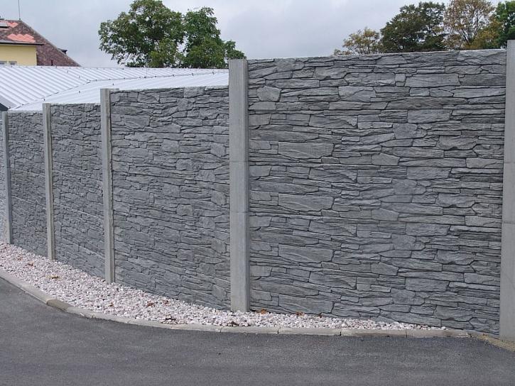 betonový plot - oboustranný reliéf