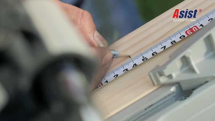 Měření rozměrů na dřevo