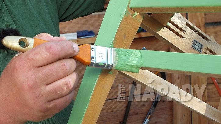 Křesílko ze staré židle: provedeme povrchovou úpravu