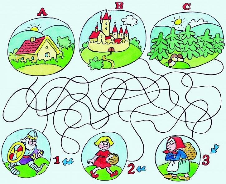 Kreslené hlavolamy pro předškoláky