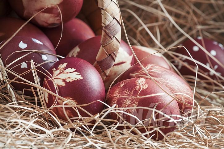 přírodní velikonoční vajíčka