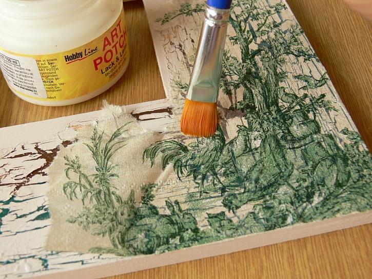 Výroba obrázku houby s rámečkem