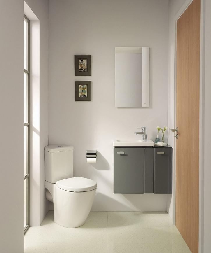 Nový trend v koupelnovém designu do malých koupelen: koupelnová kolekce Connect Space